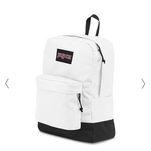 EUC Jansport backpack book bag white & black